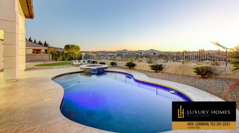 pool view at Seven Hills Home for Sale, 1380 Ruby Sky Ct