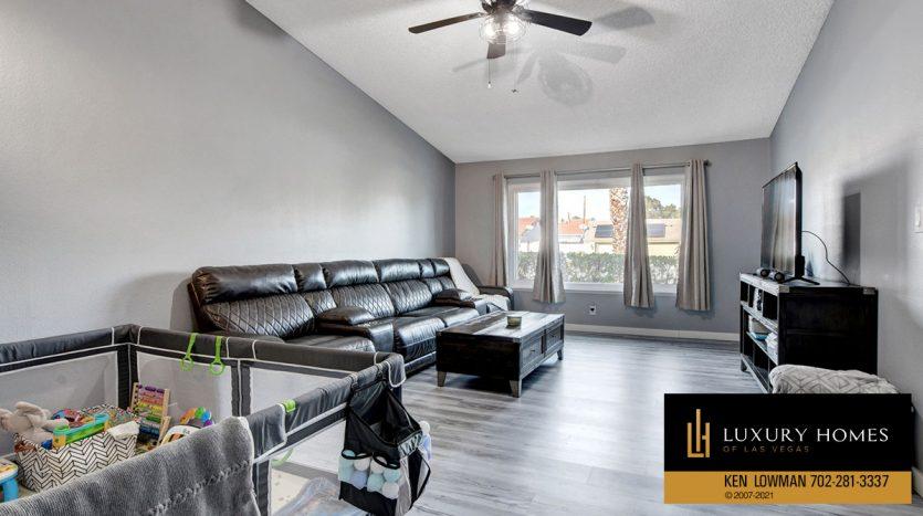 living room at Southwest Las Vegas Home for Sale, 6663 Costa Brava Road