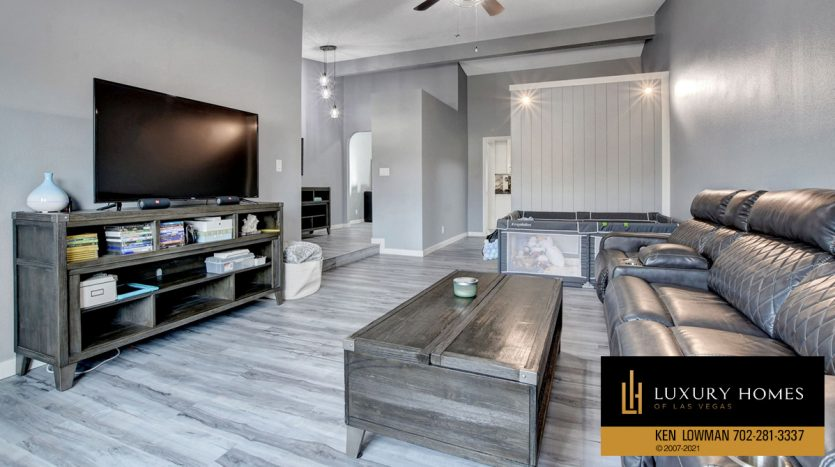 living area at Southwest Las Vegas Home for Sale, 6663 Costa Brava Road