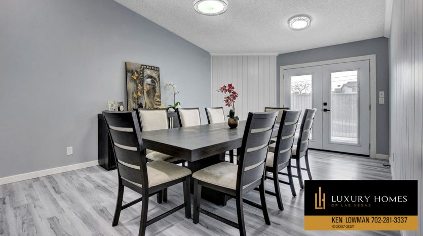 dining room at Southwest Las Vegas Home for Sale, 6663 Costa Brava Road
