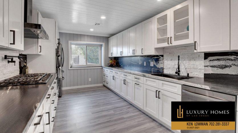 kitchen counter at Southwest Las Vegas Home for Sale, 6663 Costa Brava Road