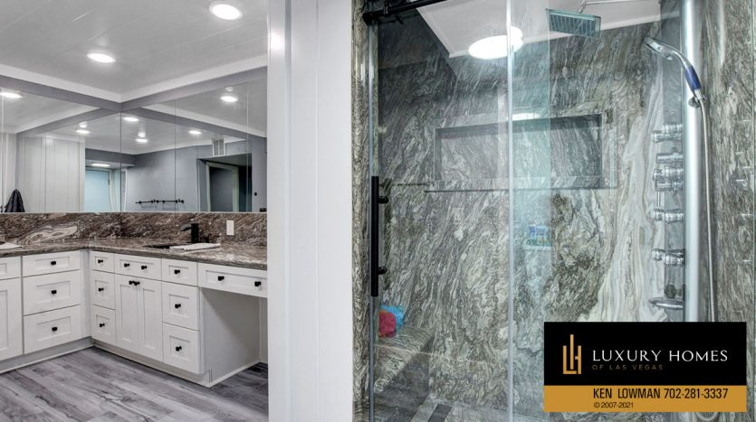 bathroom at Southwest Las Vegas Home for Sale, 6663 Costa Brava Road