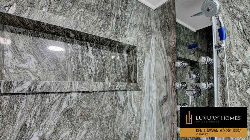 shower room at Southwest Las Vegas Home for Sale, 6663 Costa Brava Road