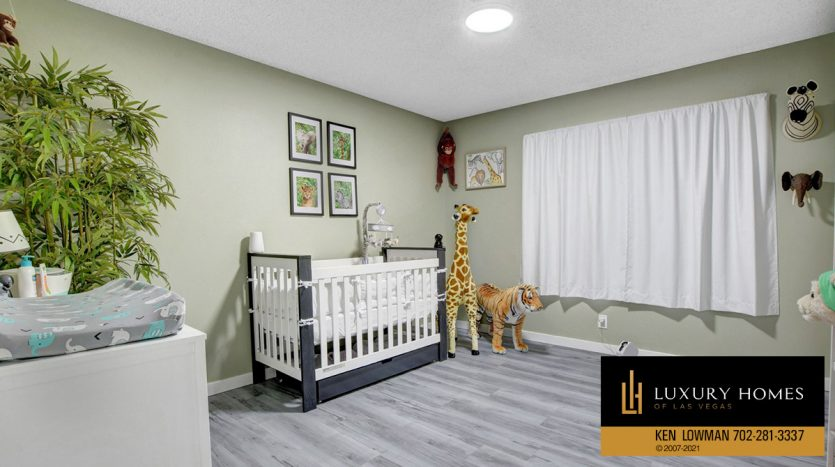 bedroom at Southwest Las Vegas Home for Sale, 6663 Costa Brava Road