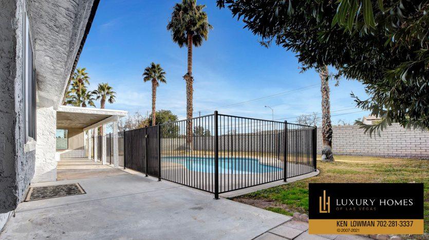 poolside at Southwest Las Vegas Home for Sale, 6663 Costa Brava Road