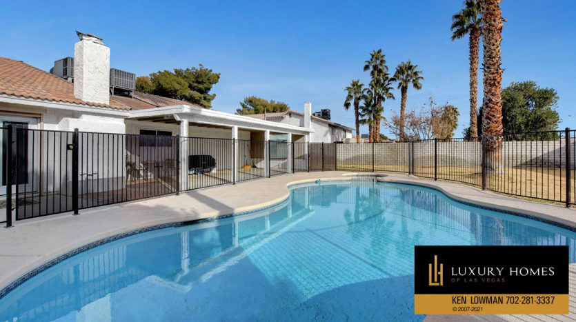 pool at Southwest Las Vegas Home for Sale, 6663 Costa Brava Road
