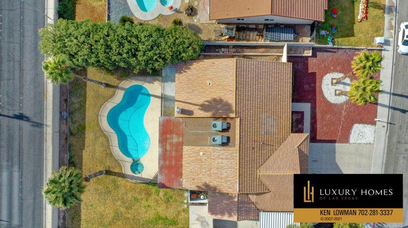 drone view at Southwest Las Vegas Home for Sale, 6663 Costa Brava Road