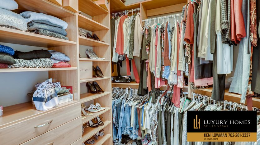 changing closet at Turnberry Place Home for Sale, 2747 Paradise Rd #1606