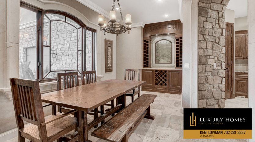 dining area at Tuscany Home for Sale, 1363 Olivia Parkway