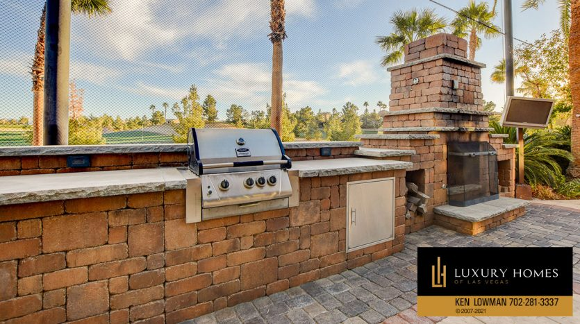 BBQ facility at Tuscany Home for Sale, 1363 Olivia Parkway