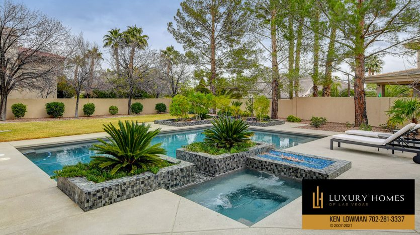 pool view at Canyon Fairways Home for Sale, 9509 Balatta Canyon Ct
