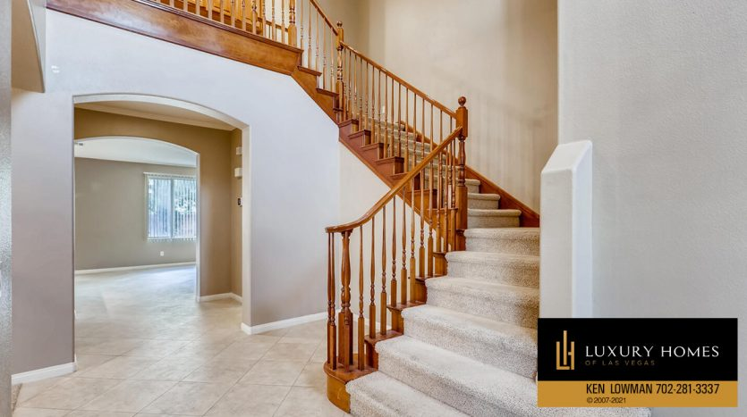stairway at Eagle Rock at Summerlin Home for Sale, 508 Proud Eagle, Las Vegas, NV 89144