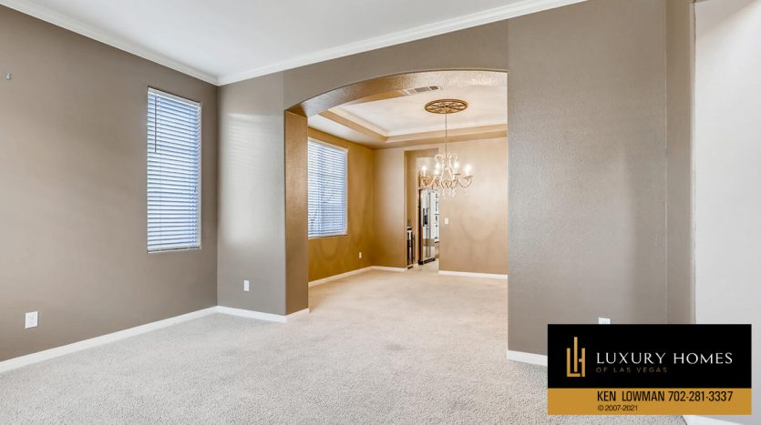 liing room area at Eagle Rock at Summerlin Home for Sale, 508 Proud Eagle, Las Vegas, NV 89144