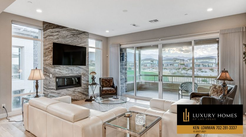 living room at The Ridges Home for Sale, 11280 Granite Ridge #1059