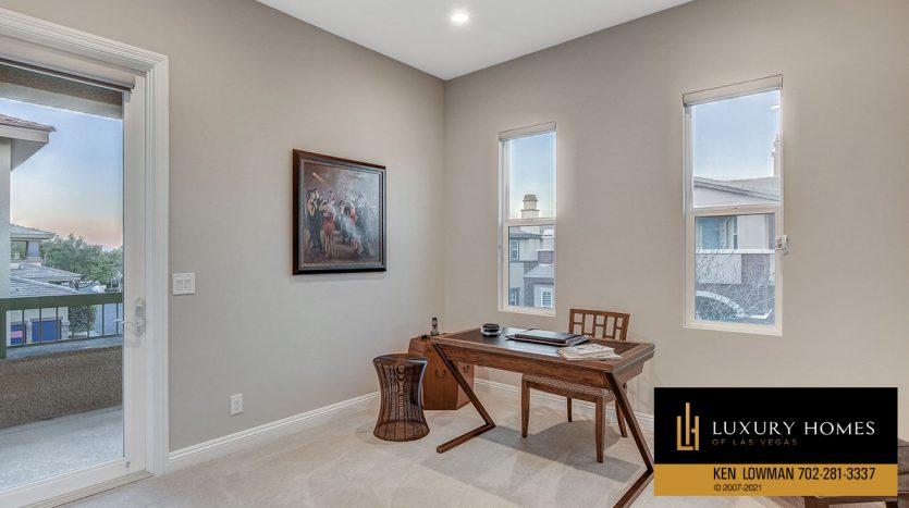 office study at The Ridges Home for Sale, 11280 Granite Ridge #1059