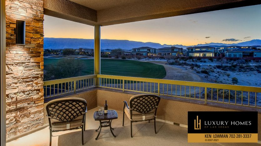 balcony golf course view at The Ridges Home for Sale, 11280 Granite Ridge #1059