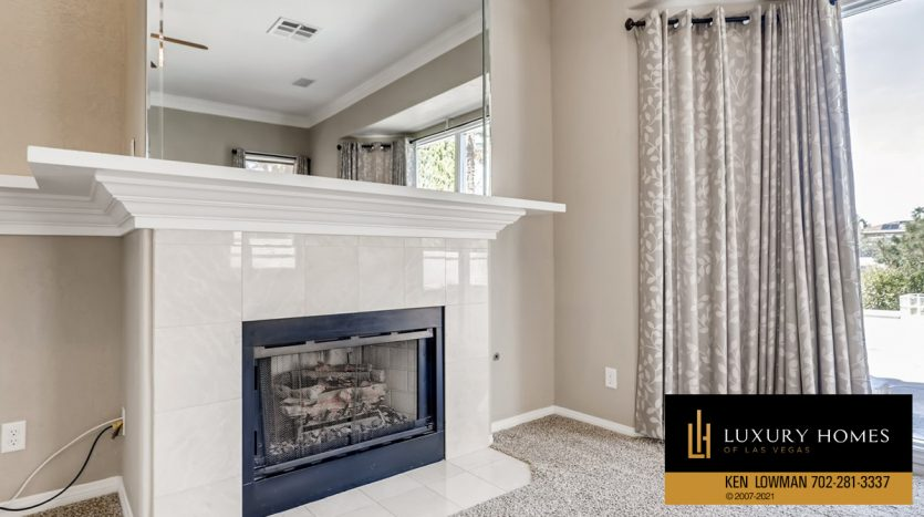 fireplace at Canyon Gate Country Club Home for Sale, 8912 Rainbow Ridge Dr