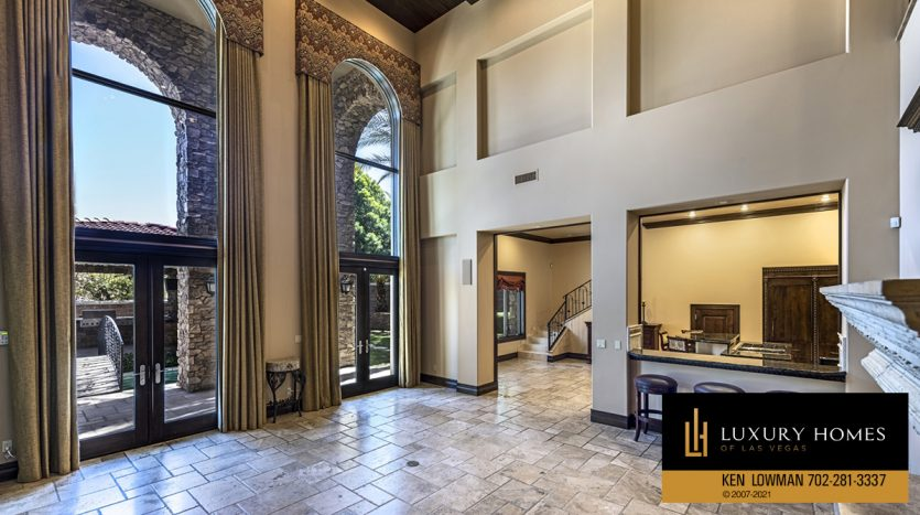 entrance at Mountain Trails at Summerlin Home for Sale, 2316 Pearl Crest St