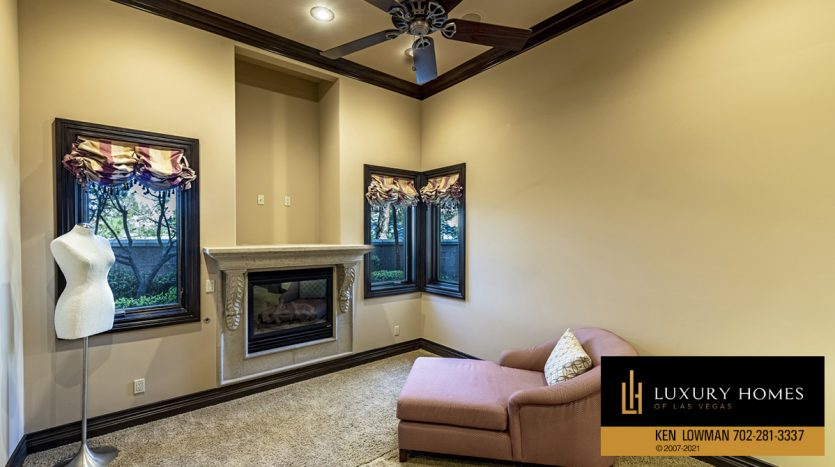 lounge area at Mountain Trails at Summerlin Home for Sale, 2316 Pearl Crest St
