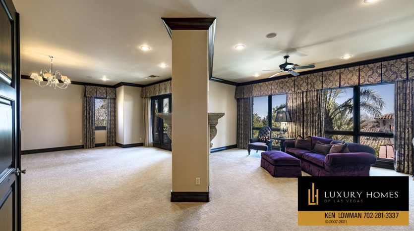 comfortable guest area at Mountain Trails at Summerlin Home for Sale, 2316 Pearl Crest St