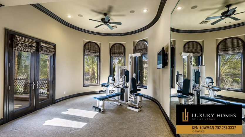 home gym at Mountain Trails at Summerlin Home for Sale, 2316 Pearl Crest St