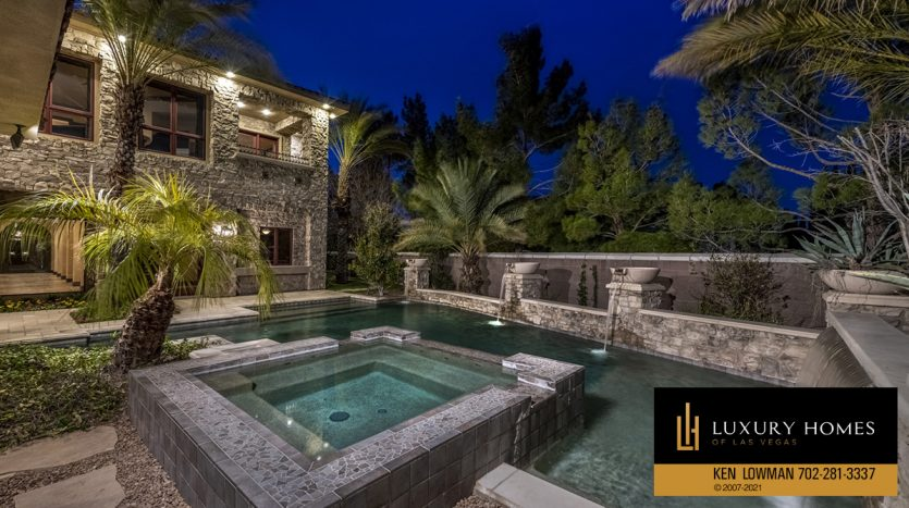 poolside at Mountain Trails at Summerlin Home for Sale, 2316 Pearl Crest St