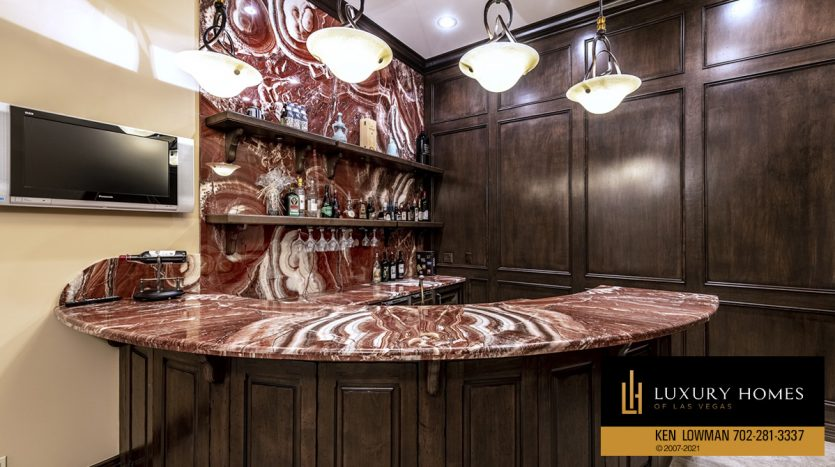 bar at Mountain Trails at Summerlin Home for Sale, 2316 Pearl Crest St