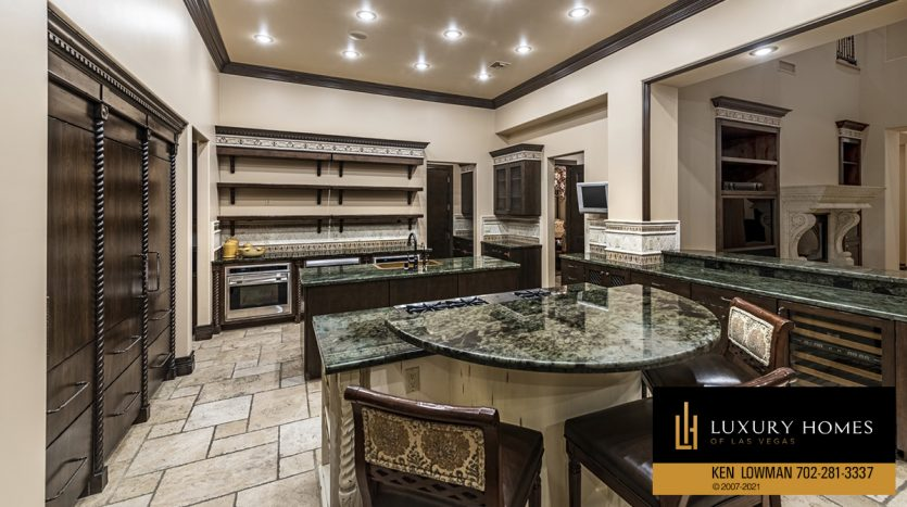 kitchen at Mountain Trails at Summerlin Home for Sale, 2316 Pearl Crest St