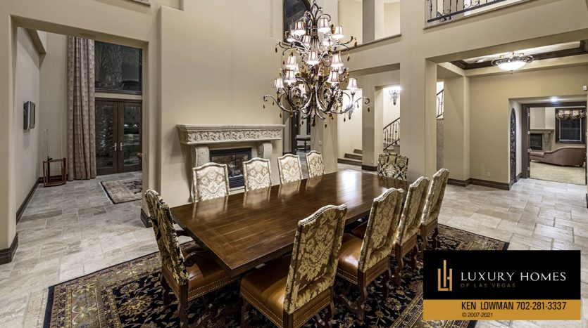 dining area at Mountain Trails at Summerlin Home for Sale, 2316 Pearl Crest St