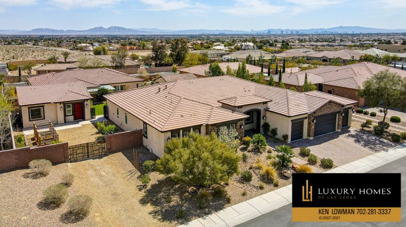 top view of Northwest Las Vegas Home for Sale, 5430 Serenity Brook Dr