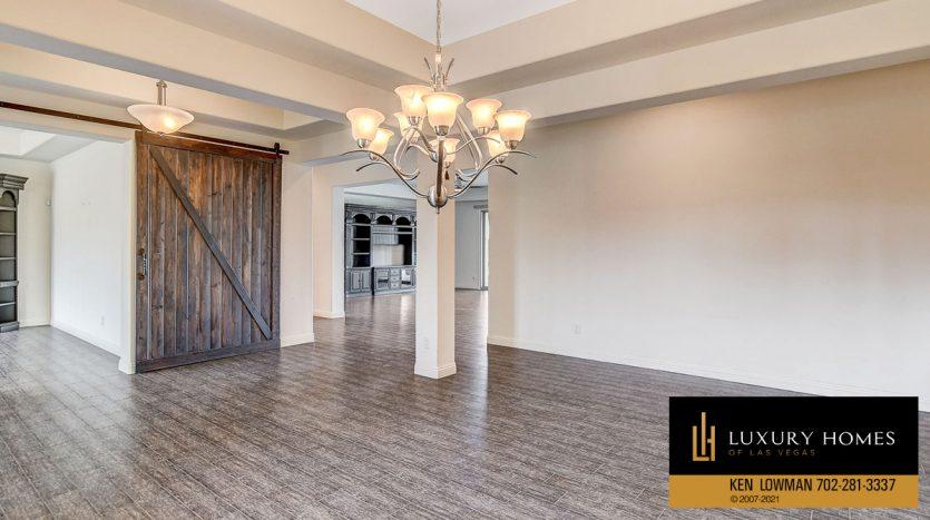 living room at Northwest Las Vegas Home for Sale, 5430 Serenity Brook Dr