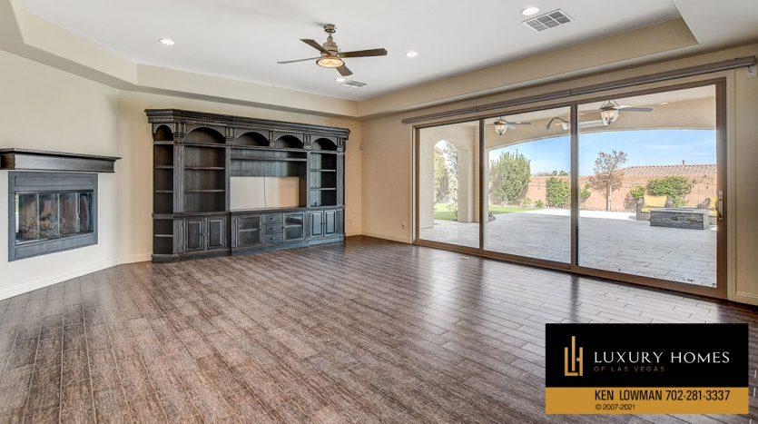 wide living room at Northwest Las Vegas Home for Sale, 5430 Serenity Brook Dr