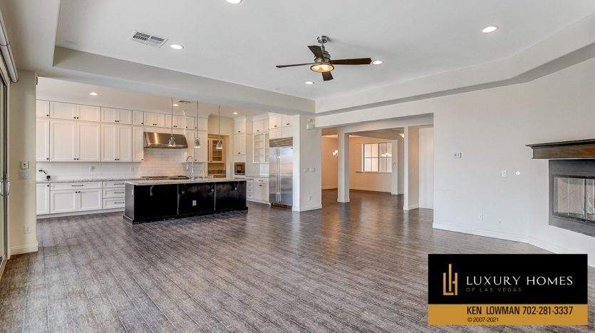 kitchen area view at Northwest Las Vegas Home for Sale, 5430 Serenity Brook Dr