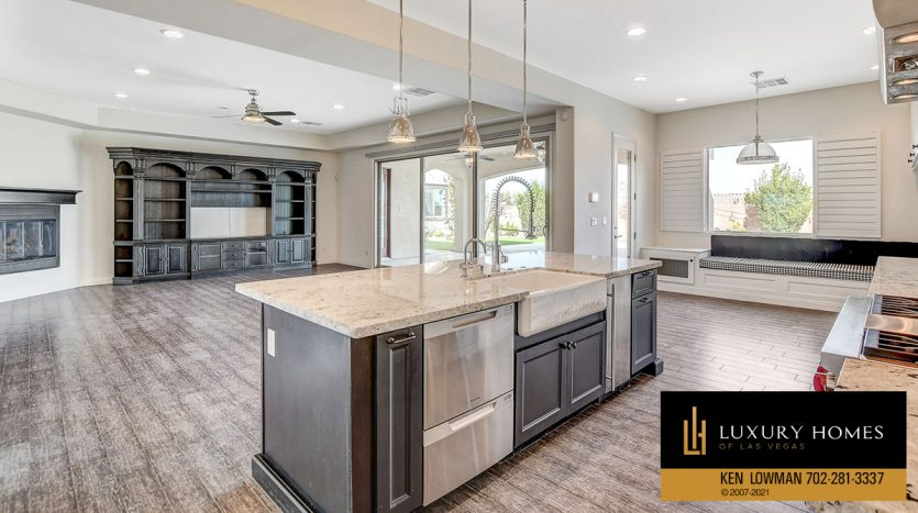 kitchen counter tops at Northwest Las Vegas Home for Sale, 5430 Serenity Brook Dr