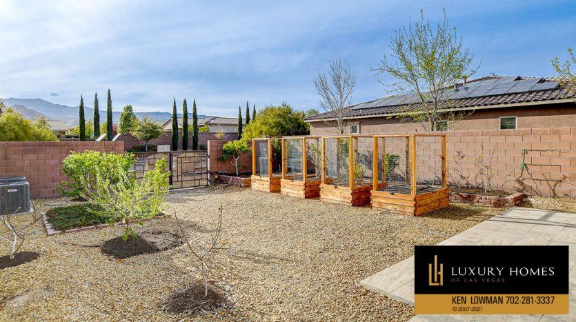 backyard at Northwest Las Vegas Home for Sale, 5430 Serenity Brook Dr
