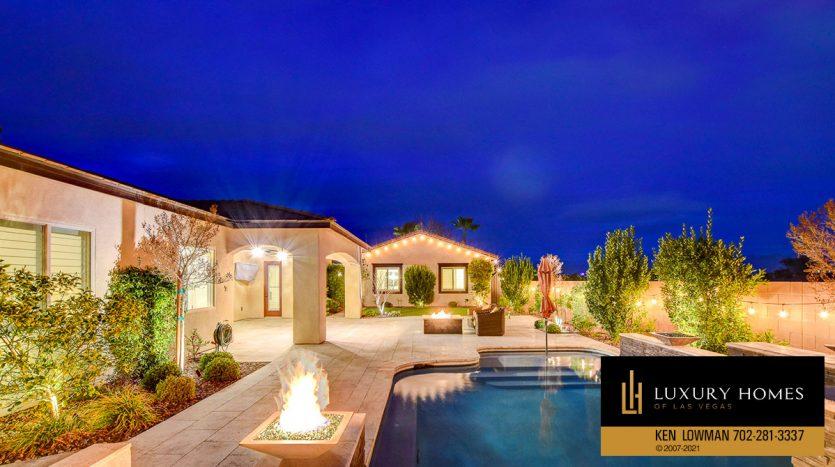 pool at Northwest Las Vegas Home for Sale, 5430 Serenity Brook Dr