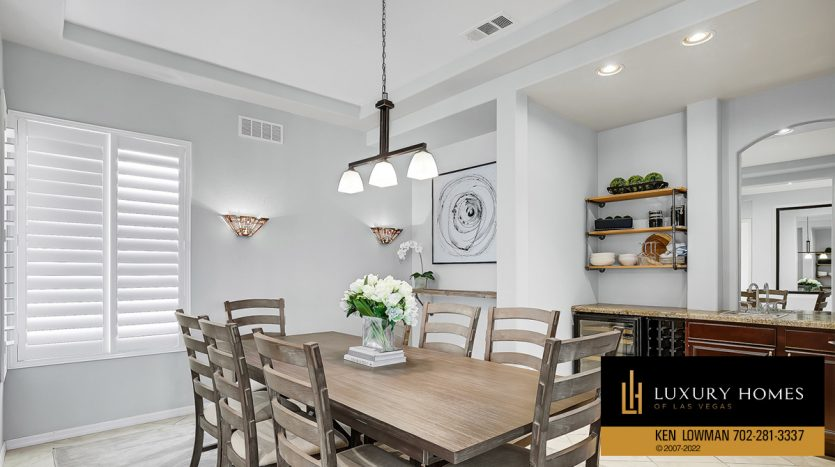 entertainment area at Red Rock Country Club Home for Sale, 2122 Country Cove Ct