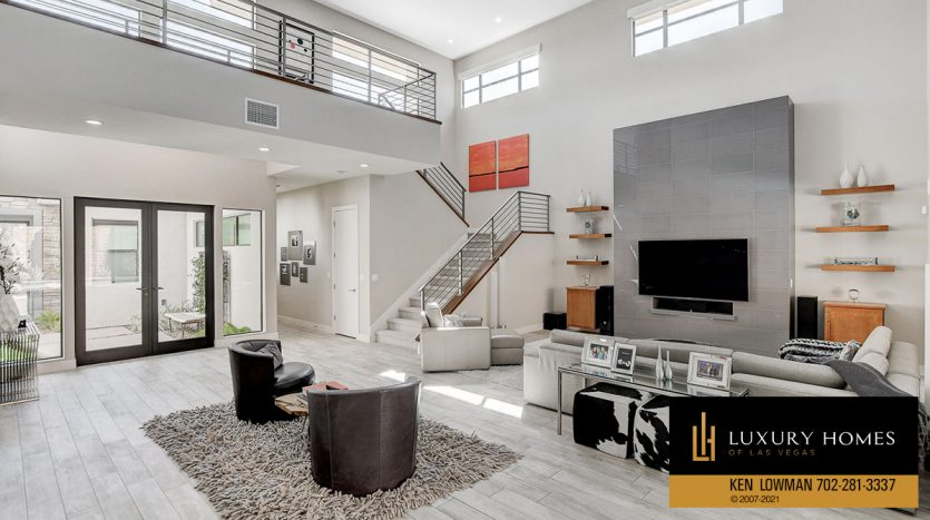 living room at The Ridges Home for Sale, 81 Pristine Glen St, Las Vegas, NV 89135