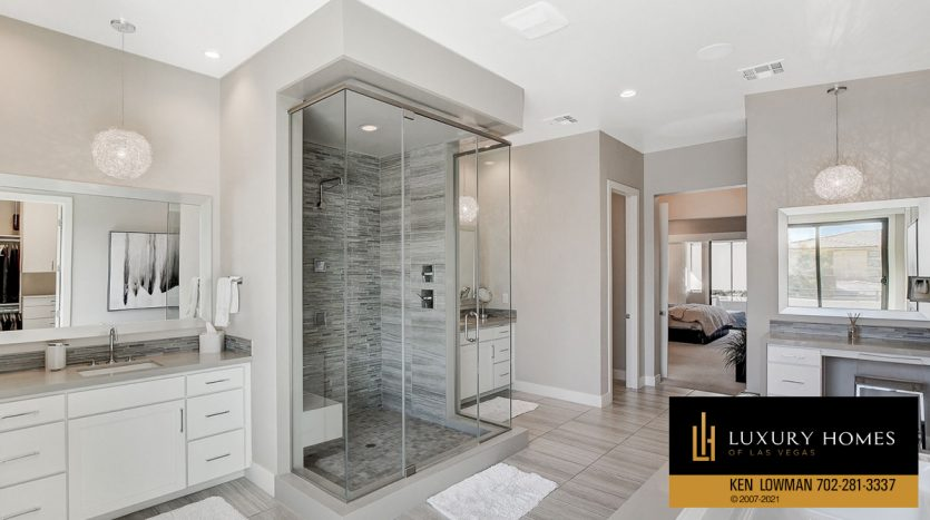 shower cubicle at The Ridges Home for Sale, 81 Pristine Glen St, Las Vegas, NV 89135