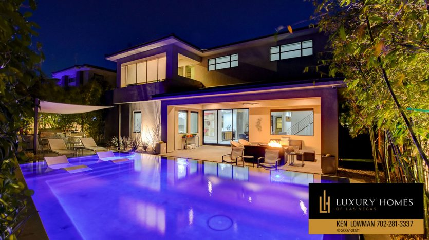 pool view at The Ridges Home for Sale, 81 Pristine Glen St, Las Vegas, NV 89135
