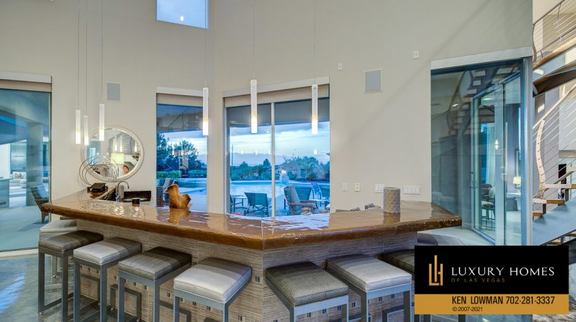 bar area at Anthem Country Club Home for Sale, 1 Chartiers Ct