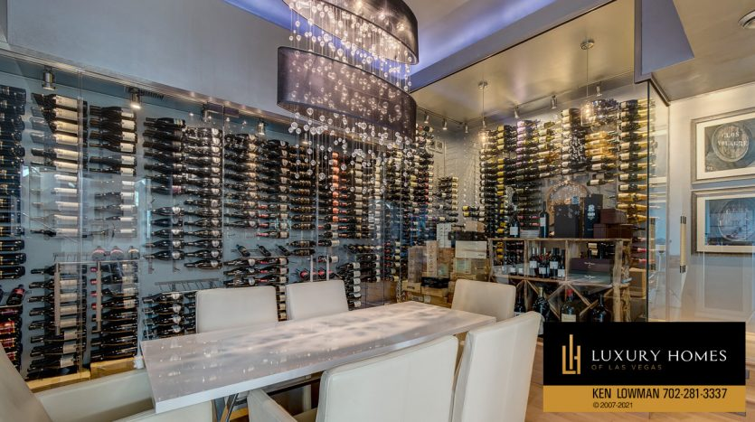 wine storage at Anthem Country Club Home for Sale, 1 Chartiers Ct