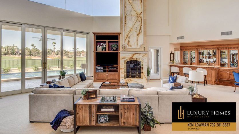 living room at Canyon Gate Country Club Home for Sale, 8900 Canyon Springs