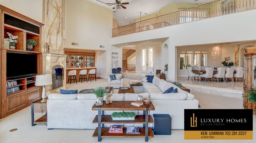 living area space at Canyon Gate Country Club Home for Sale, 8900 Canyon Springs