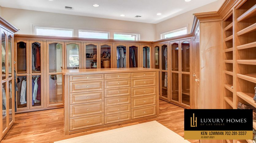 clothing storage at Canyon Gate Country Club Home for Sale, 8900 Canyon Springs