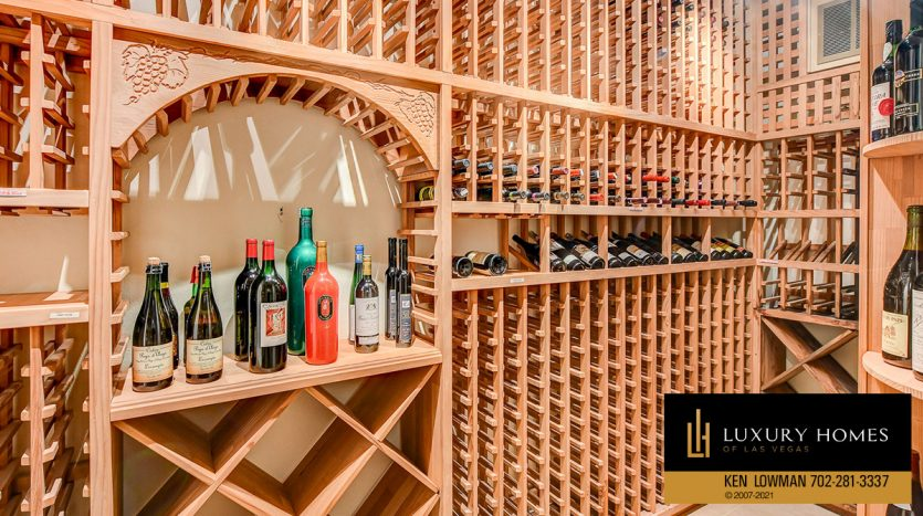 wine storage at Canyon Gate Country Club Home for Sale, 8900 Canyon Springs