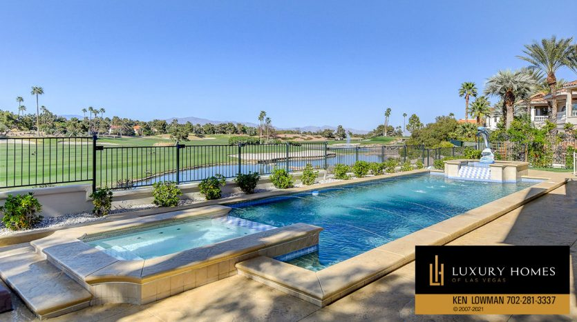 pool view at Canyon Gate Country Club Home for Sale, 8900 Canyon Springs