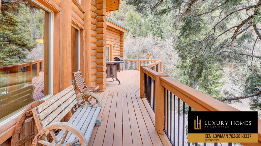 balcony at Mt Charleston Home for Sale, 352 Echo Rd