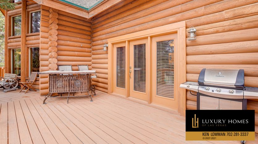 balcony area at Mt Charleston Home for Sale, 352 Echo Rd