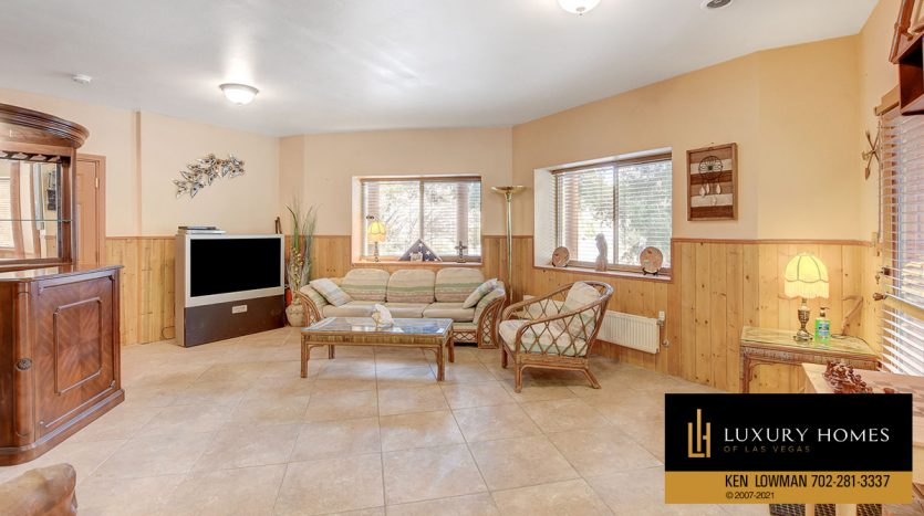 lounge area at Mt Charleston Home for Sale, 352 Echo Rd